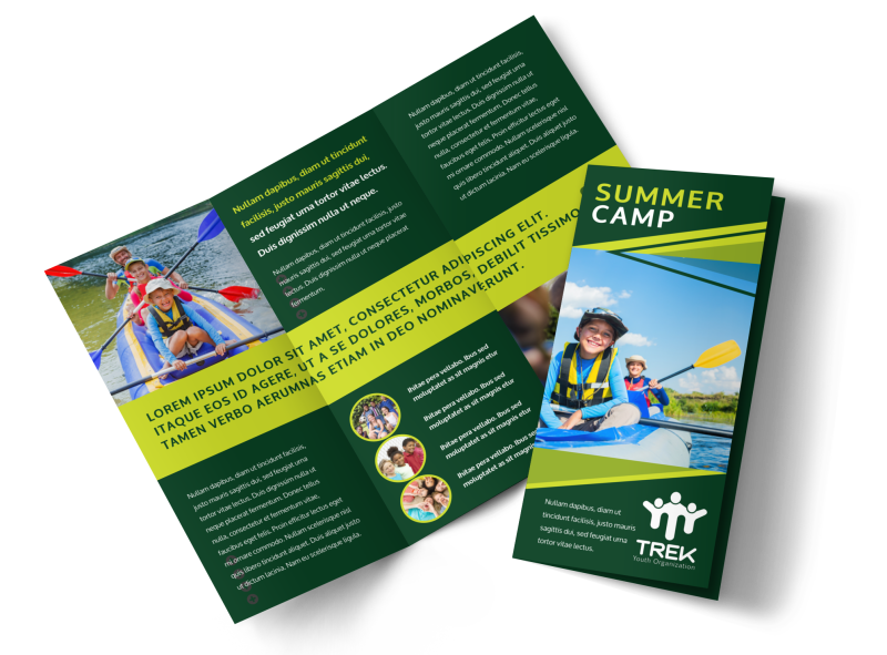 Youth Summer Camp Brochure Template Preview 1