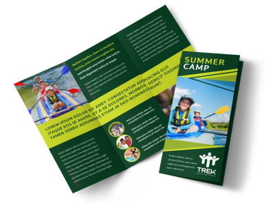 Kids Summer Camp Tri-Fold Brochure Template preview