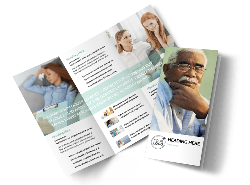 Depression anxiety counseling brochure template for Counseling brochure templates free