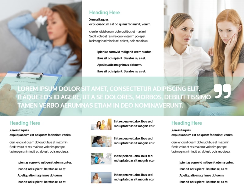 Depression & Anxiety Counseling Brochure Template Preview 3