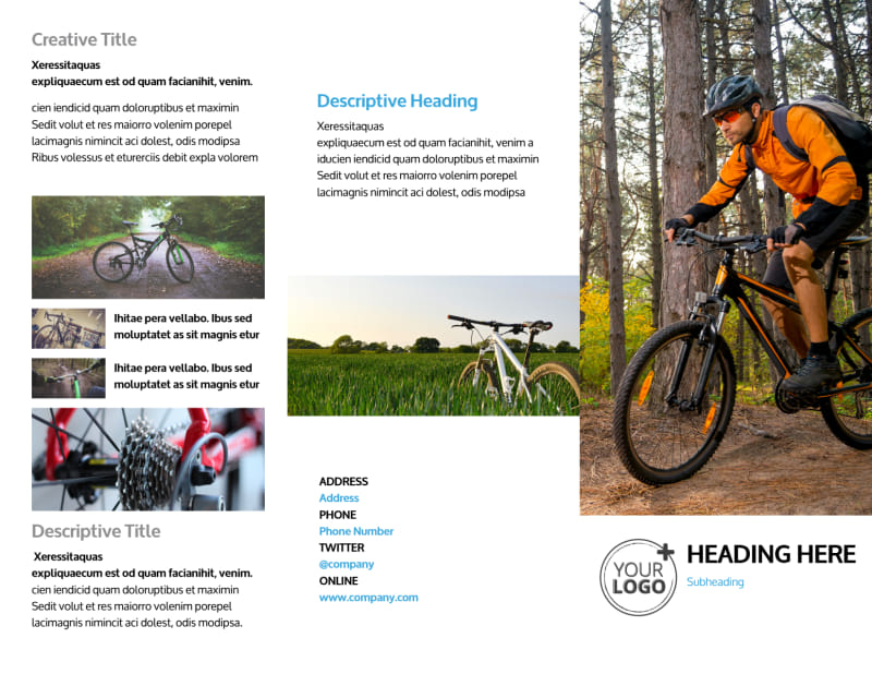 Bike Repair Brochure Template Preview 2
