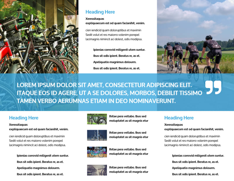 Bike Repair Brochure Template Preview 3