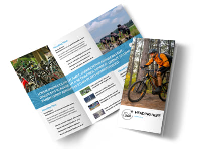 Bike Repair Tri-Fold Brochure Template