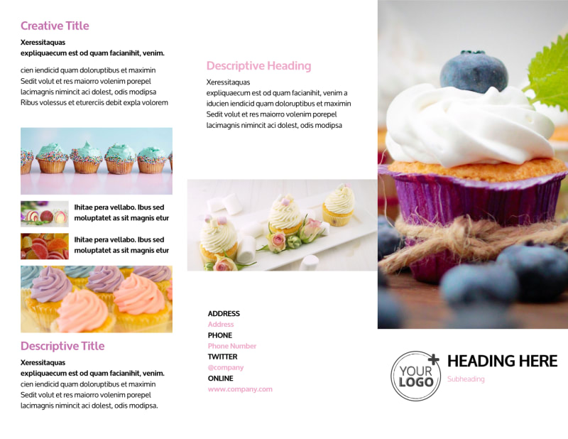 Cake & Candy Store Brochure Template Preview 2