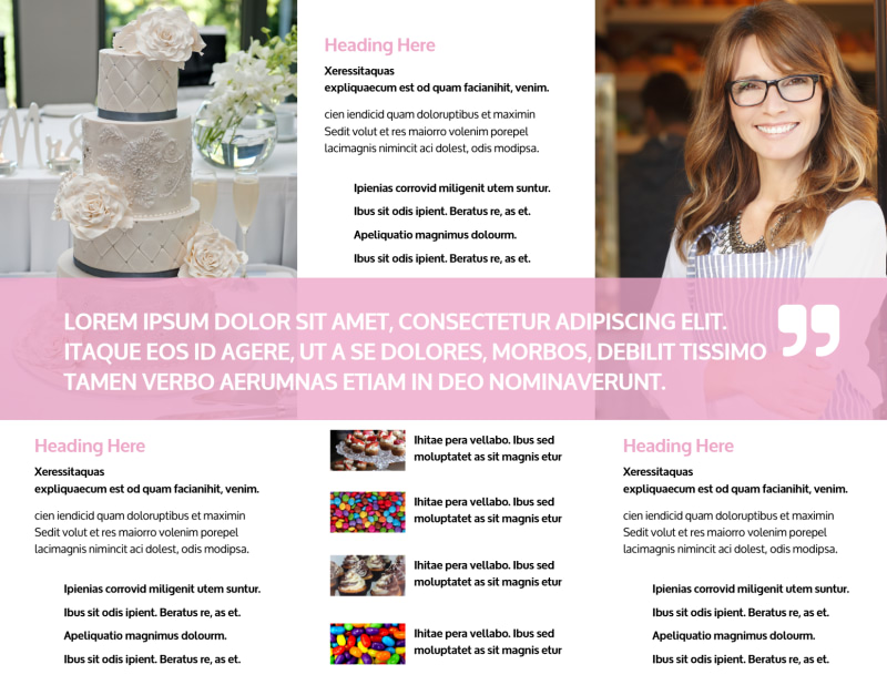 Cake & Candy Store Brochure Template Preview 3