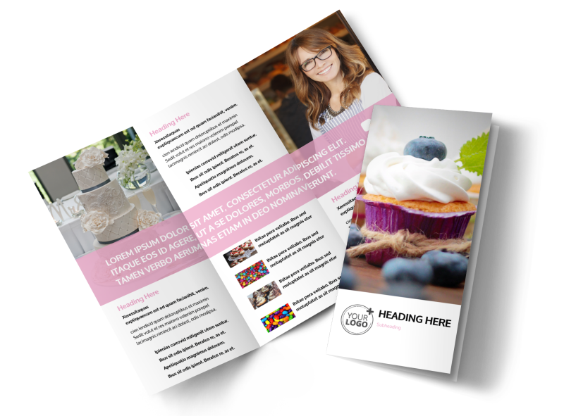 Cake & Candy Store Brochure Template Preview 1