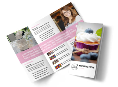 Cake & Candy Store Tri-Fold Brochure Template