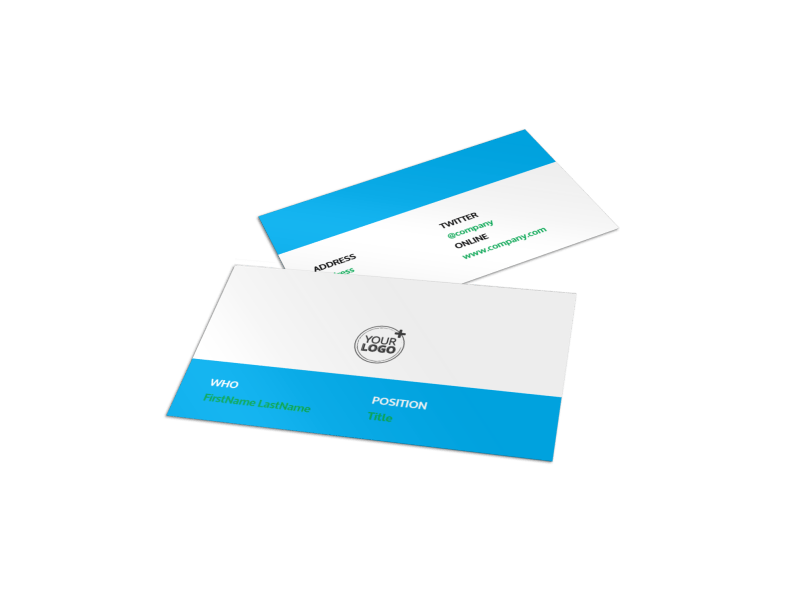 School of Pharmacy Business Card Template Preview 1