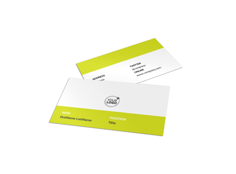 Youth Summer Camp Business Card Template Preview 1