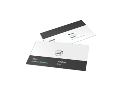Depression & Anxiety Counseling Business Card Template preview
