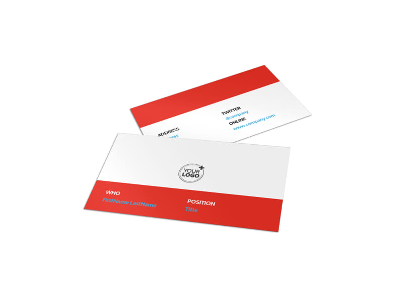 Bike Repair Business Card Template