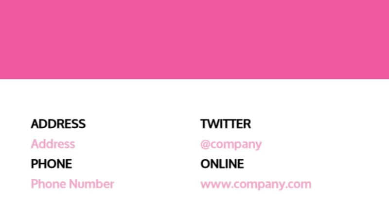 Cake & Candy Store Business Card Template Preview 3