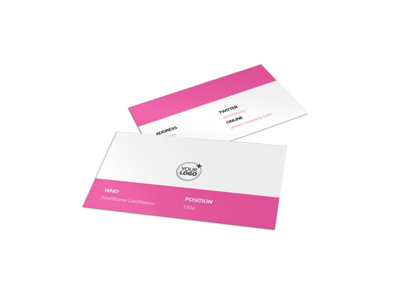 Cake & Candy Store Business Card Template Preview 1