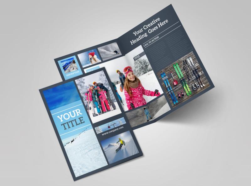 Big Mountain Ski Resort Bi-Fold Brochure Template 2