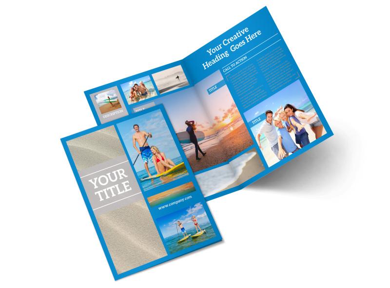 Paddleboard Class Bi-Fold Brochure Template 2