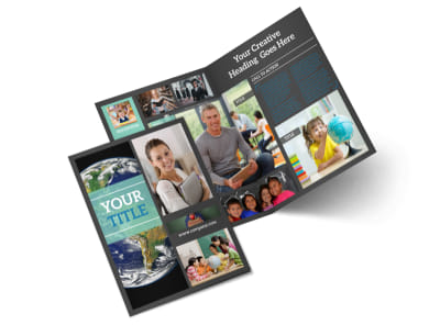Language School Bi-Fold Brochure Template 2