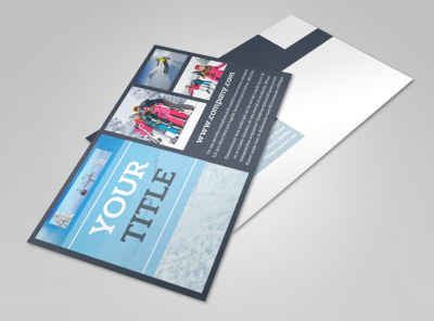 Big Mountain Ski Resort Postcard Template 2 preview