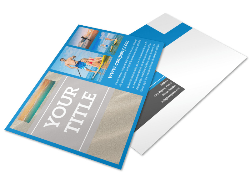 Paddleboard Class Postcard Template 2