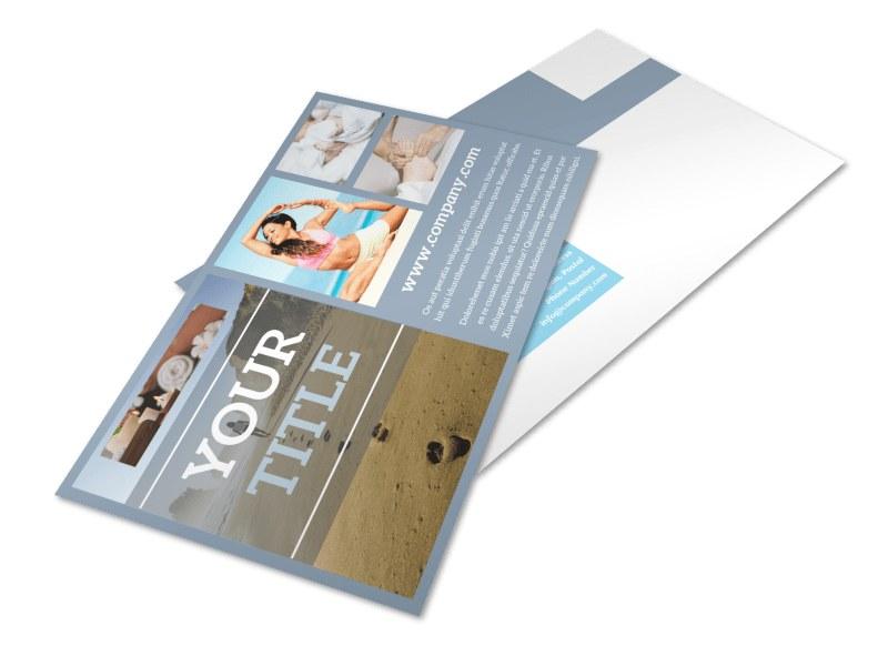 Reflexology Clinic Postcard Template 2