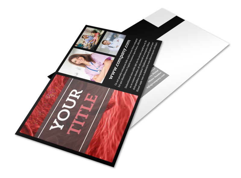 Dialysis Center Postcard Template 2
