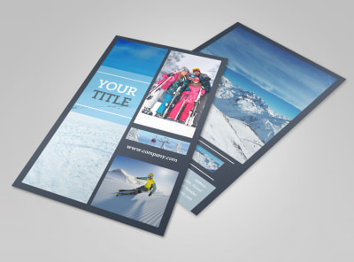 Big Mountain Ski Resort Flyer Template 3