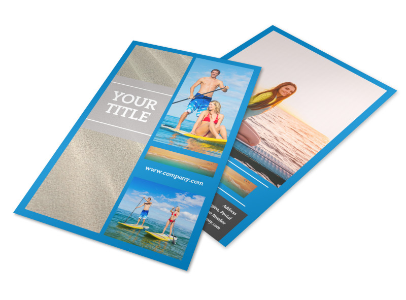 Paddleboard Class Flyer Template 3