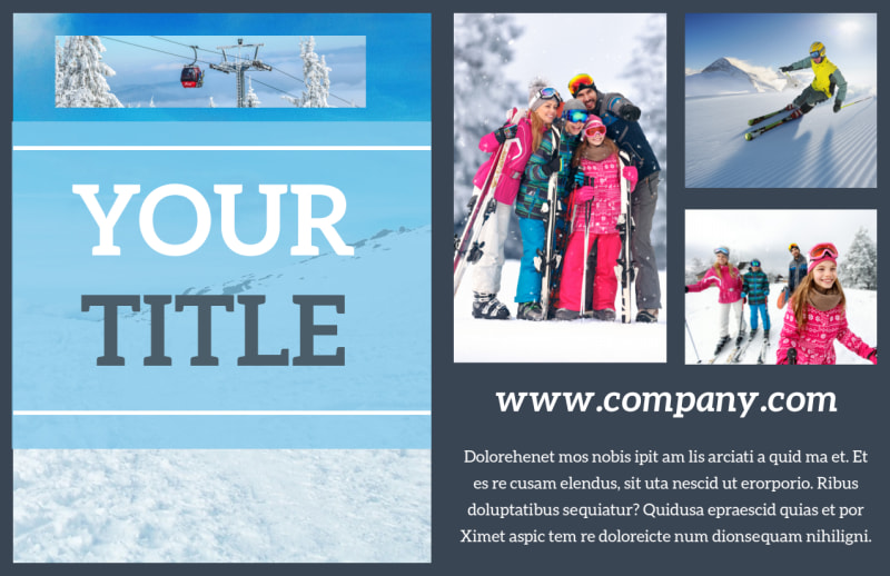 Big Mountain Ski Resort Postcard Template Preview 2
