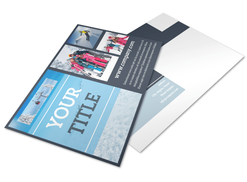 Big Mountain Ski Resort Postcard Template Preview 1