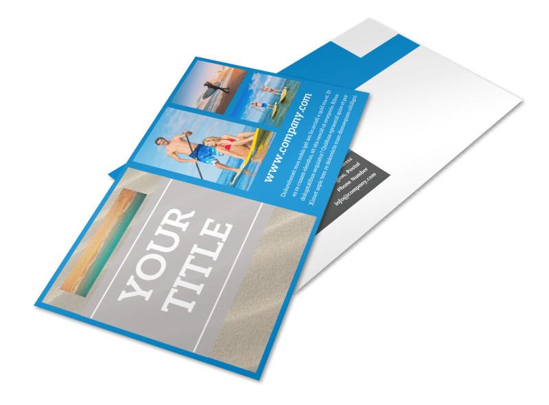 Paddleboard Class Postcard Template