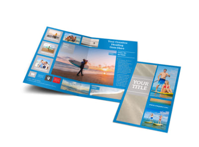 Paddleboard Class Bi-Fold Brochure Template preview