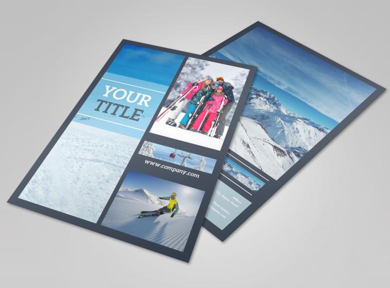 Big Mountain Ski Resort Flyer Template