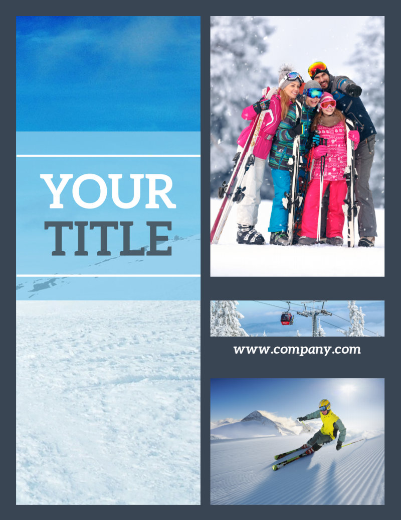 Big Mountain Ski Resort Flyer Template Preview 2
