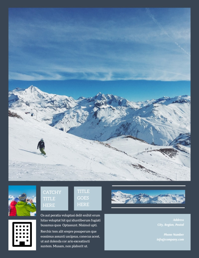 Big Mountain Ski Resort Flyer Template Preview 3