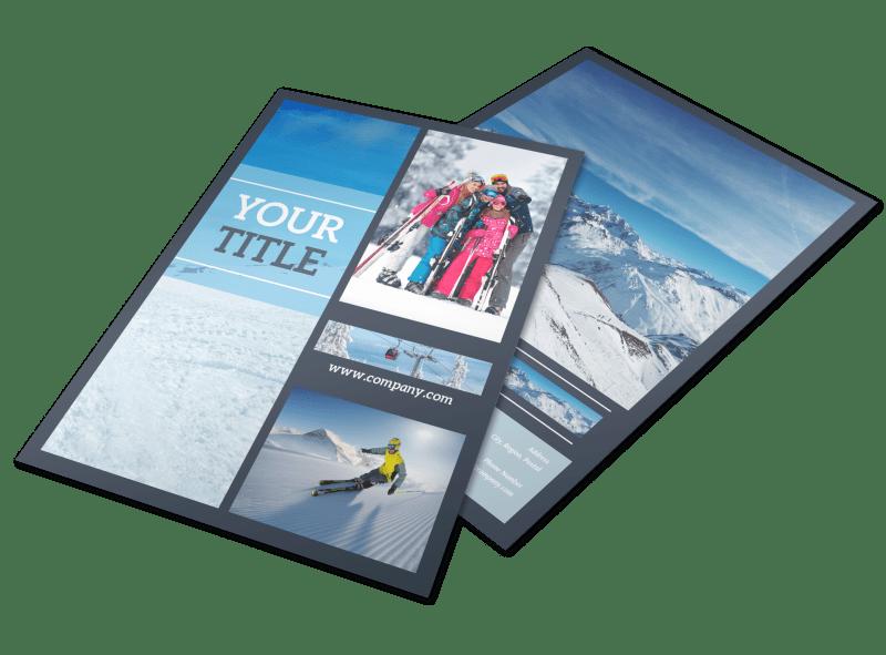 Big Mountain Ski Resort Flyer Template Preview 1