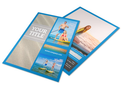 Paddleboard Class Flyer Template