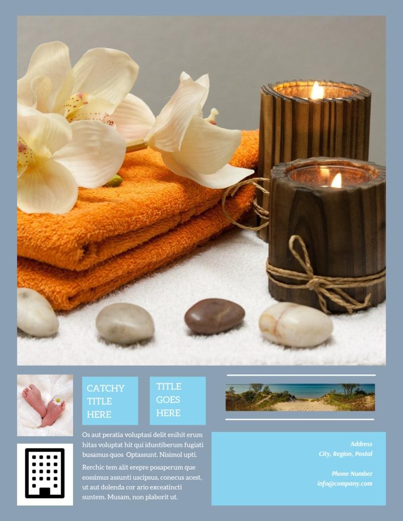 Reflexology Clinic Flyer Template Preview 3