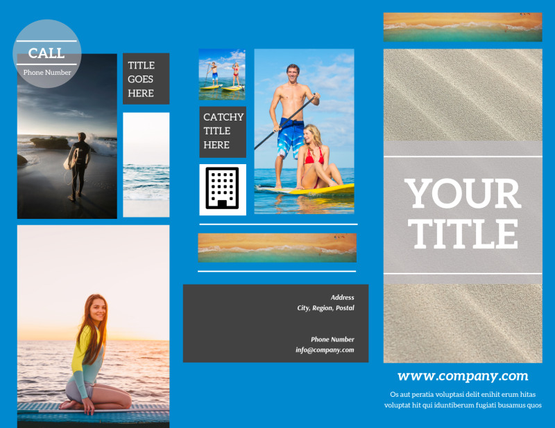 Paddleboard Class Brochure Template Preview 2