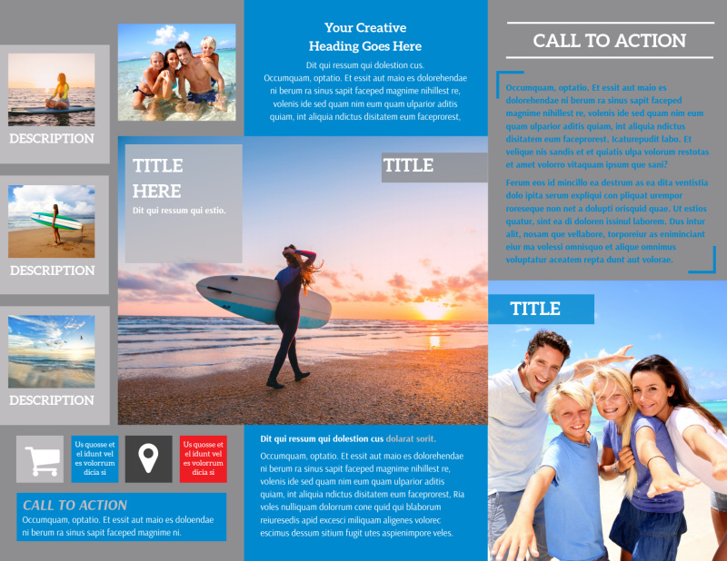 Paddleboard Class Brochure Template Preview 3