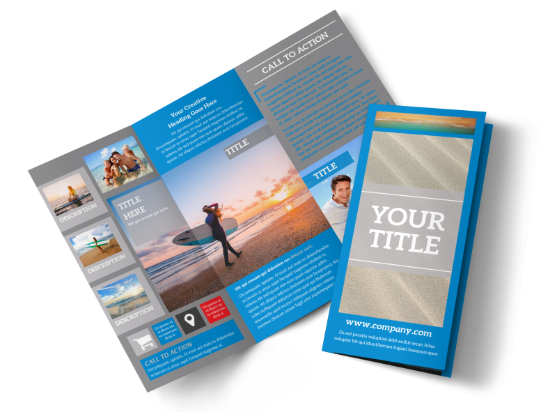 Paddleboard Class Brochure Template Preview 1