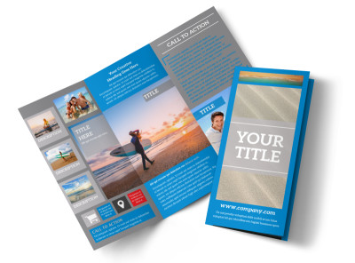 Paddleboard Class Tri-Fold Brochure Template
