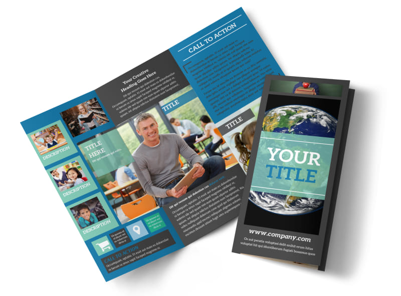 Language School Brochure Template MyCreativeShop - School brochure templates