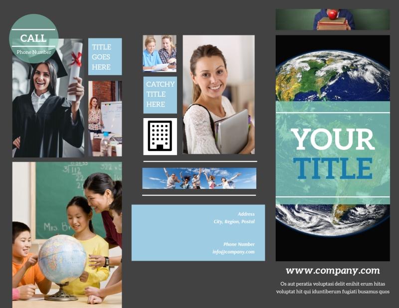 Language School Brochure Template Preview 2