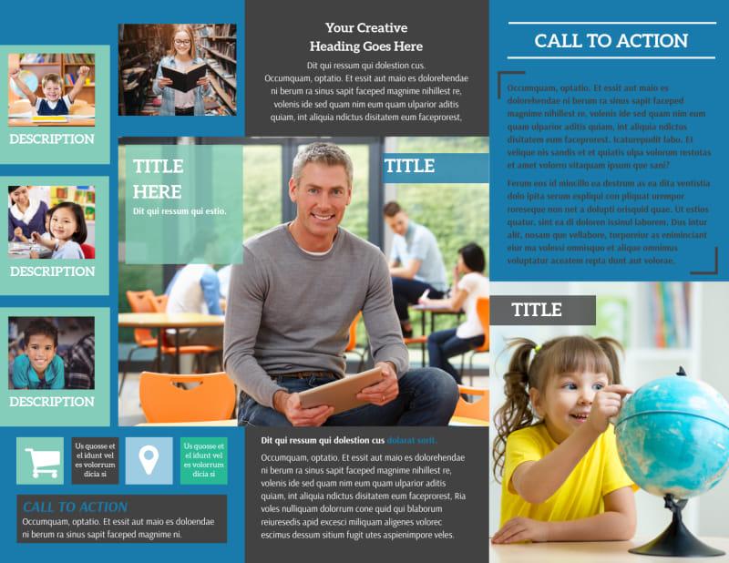 Language School Brochure Template Preview 3