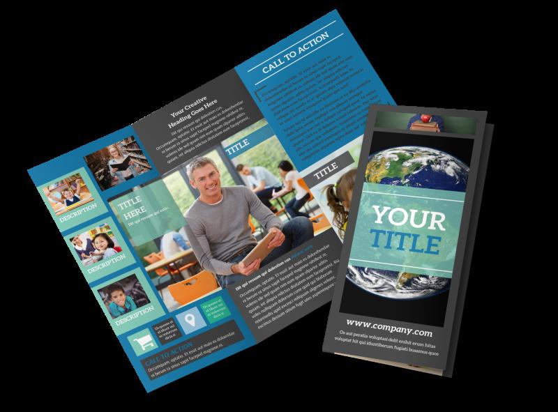 Language School Brochure Template Preview 1