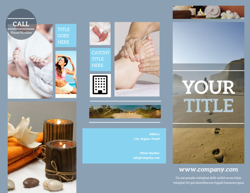 Reflexology Clinic Brochure Template Preview 2