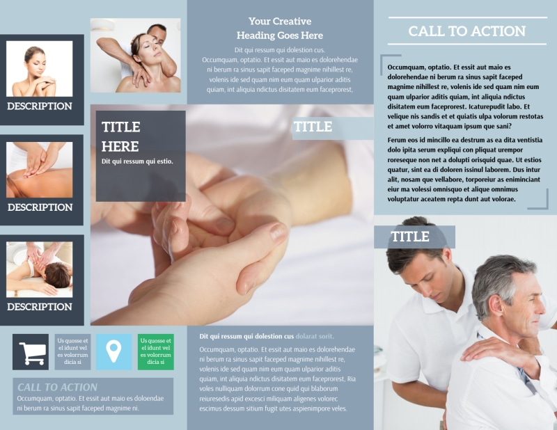 Reflexology Clinic Brochure Template Preview 3