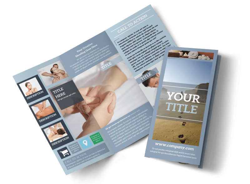 Reflexology Clinic Brochure Template Preview 1