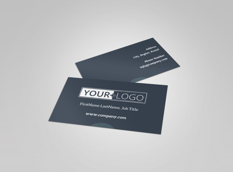 Big Mountain Ski Resort Business Card Template