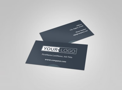 Big Mountain Ski Resort Business Card Template preview