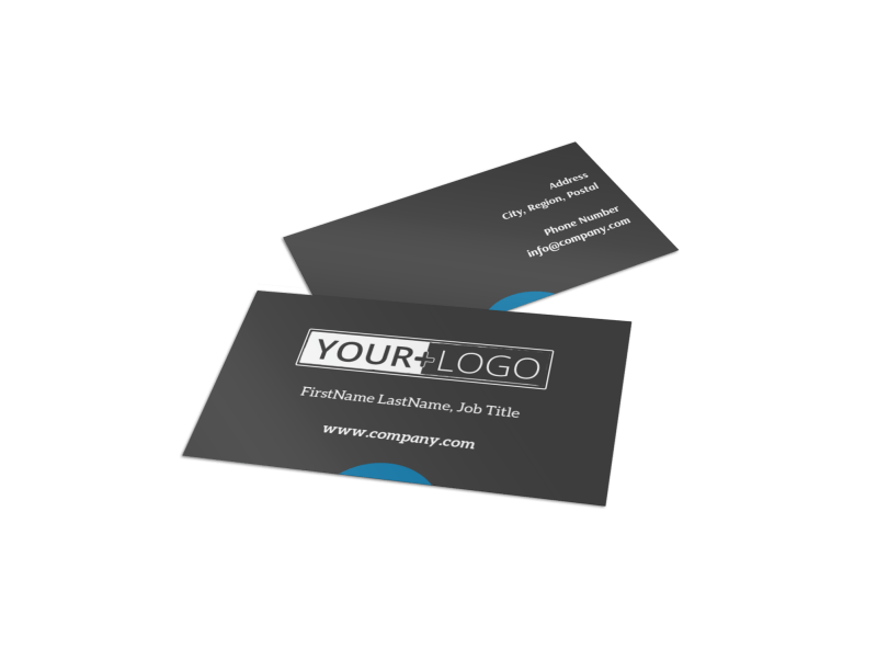 Language School Business Card Template Preview 1